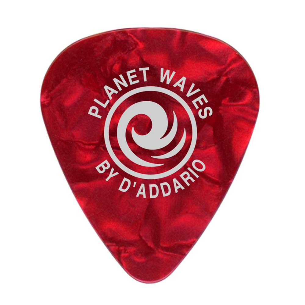 10 pack Planet Waves Red Pearl Celluloid Guitar Picks Light
